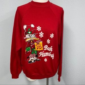 TNT red women's vtg Christmas sweatshirt sz L
